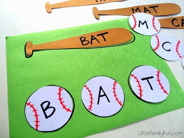 Classroom Lesson Ideas: Baseball Spelling Activity
