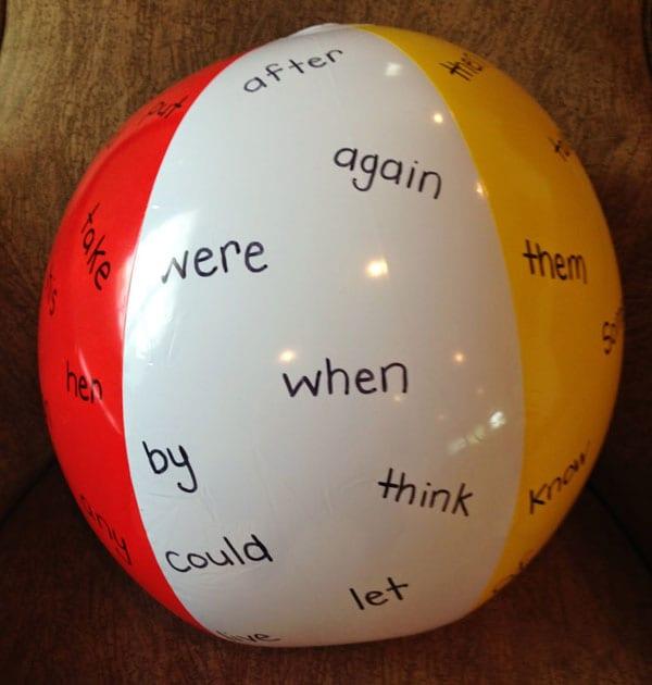 Classroom Lesson Ideas: Vocabulary Beach Ball Activity