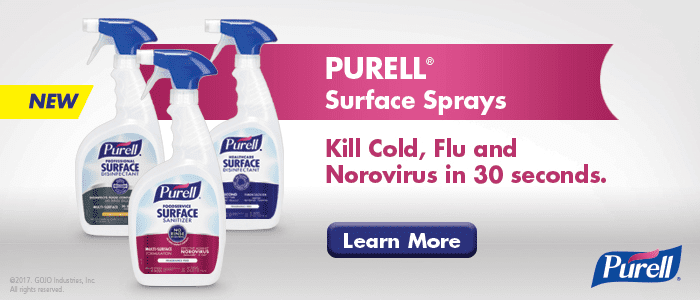 Use purell surface spray to help protect you from the coronavirus in your office and workspace