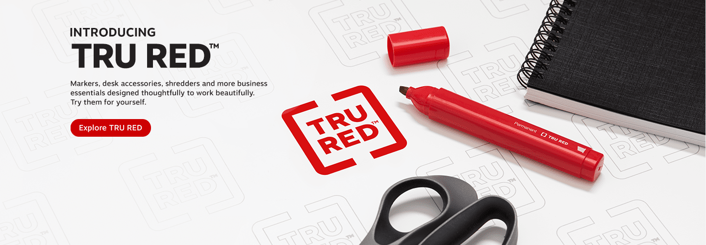 Tru Red Business Essentials are perfect for your home office